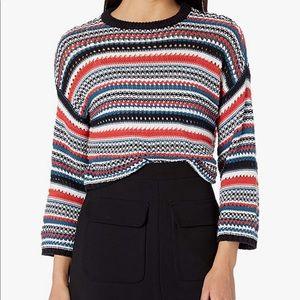 BB Dakota striped colorful boho crew neck sweater